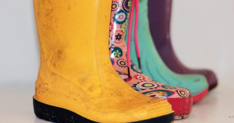 Gummistiefel – Ein Hoch auf's Pfützenhüpfen
