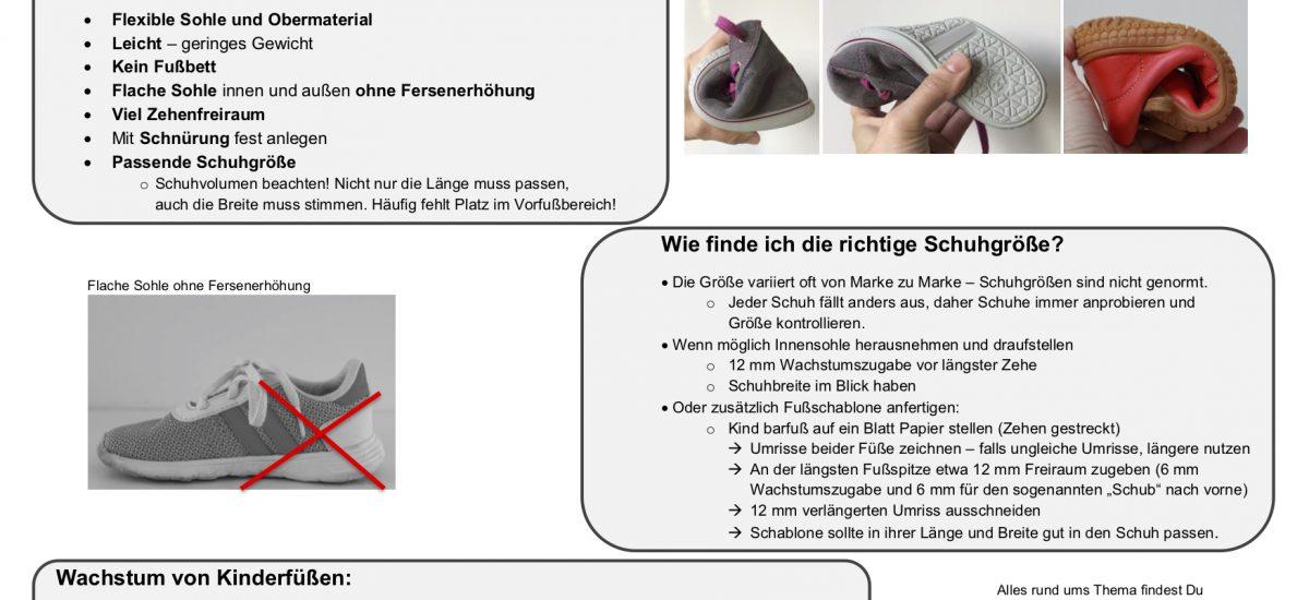Schuhkauf-Spickzettel